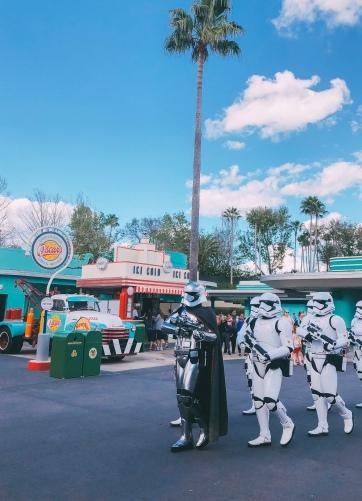 Storm Trooper procession at Disney's Hollywood Studios
